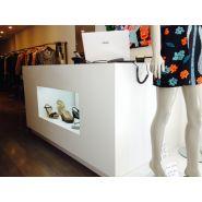 Comptoir pour magasin - A4 Inside - Avec vitrine intérieure