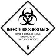 UN2814 - Etiquettes médicales et pharmaceutiques - DaklaPack - blanc