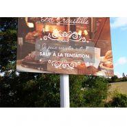 Vinci - panneau d'enseigne plat alu-dibon - dediservices