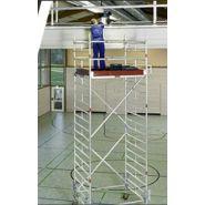 Echafaudage roulant grande hauteur - Layher - Hauteur de travail max.14,50 m-Uni escalier