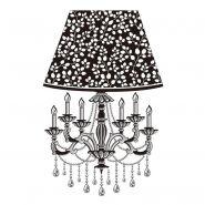 Sticker relief à led lampe baroque n°2 - paris prix