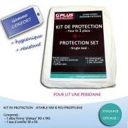 """KIT DE PROTECTION POUR LIT 1 PLACE GAMME """"CONFORT"""""""