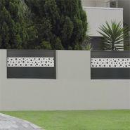 Chatel - clôture en aluminium - 123 pvc alu - thermolaqué
