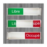 si69-slid-11 - Plaque de porte avec panneau coulissant - Alpha signa - Rouge et vert