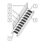 Escalier droit - MM - en polyester