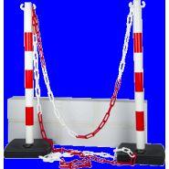 Kit 2 poteaux PVC Rouge/Blanc - 2000864