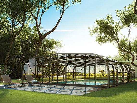 abri de piscine rideau sur. Black Bedroom Furniture Sets. Home Design Ideas