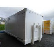 Abri sur berce 5 ou 6 m  - base-vie : réfectoire/ sanitaire / vestiaire