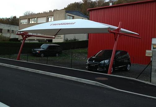 Abri voiture démontable shelter / structure en acier / toiture arrondie en toile