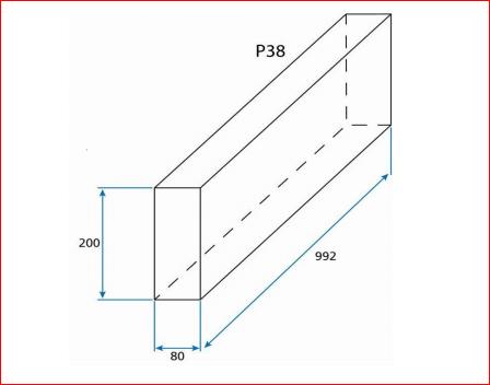 Bordure Béton P38 100x20x8cm Point P Developpement