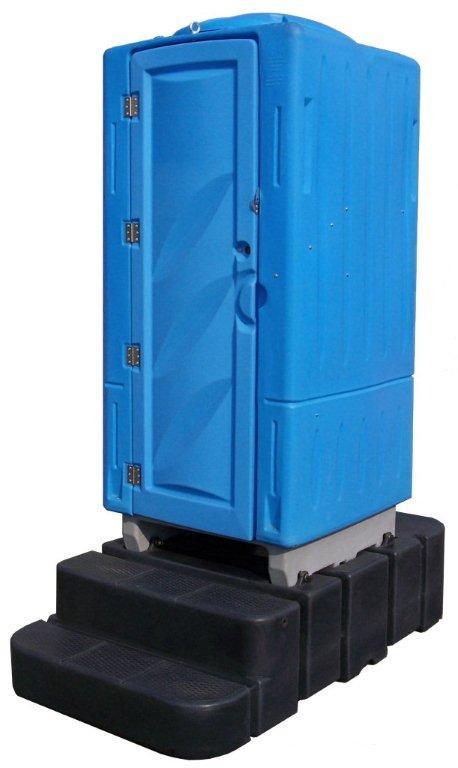 Toilette mobile raccordable aqua / 109 x 112 x 244 cm