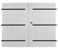 date de sortie Braderie large sélection Portes de garage à vantaux 27mm à barres et écharpes en pvc