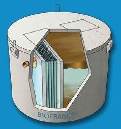 Microstation biofrance® et biofrance® plus - mono cuve en béton fibré 8 eh