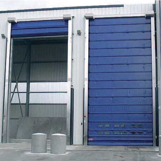 Porte rapide Mavimax / souple / à empilement / en plastique / utilisation extérieure