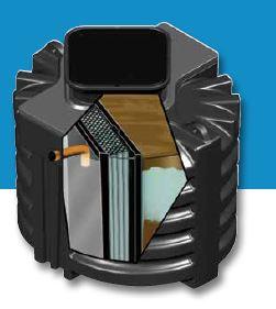 Microstation biofrance® roto et biofrance® roto plus - deux cuves en pe rotomoulé 21 eh