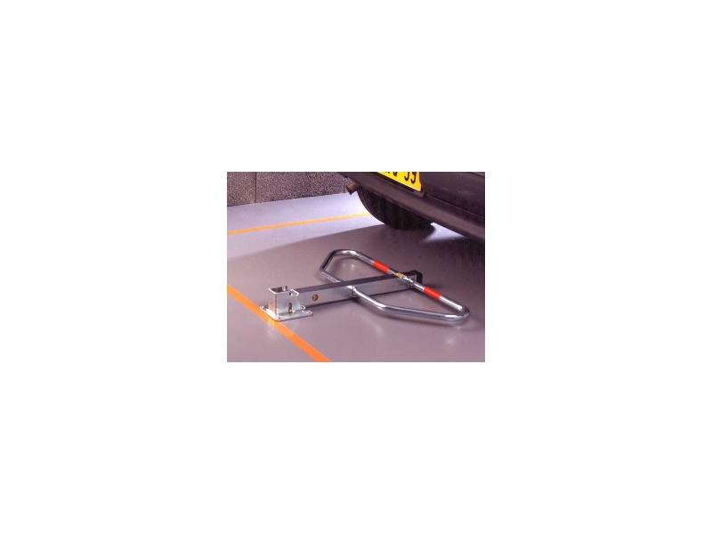 barriere de parking avec pied central et arceaux b311c mottez. Black Bedroom Furniture Sets. Home Design Ideas
