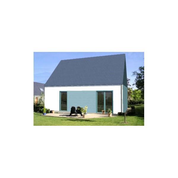 Maison à ossature en bois à étage optimale 5 / en kit / surface brute 84.01 / toit double pente / pmr