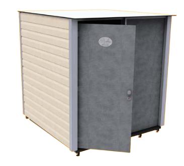 Sanitaires publics extérieurs bloc salle d'eau individuel modele standard / 2 x 1.97 x 2.2 m