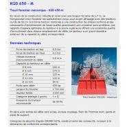 Kgd 650 m - treuil forestier - königswieser - poids sans câble 435 kg