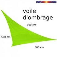Voile triangle 500 cm vert lime - alex stores et parasols