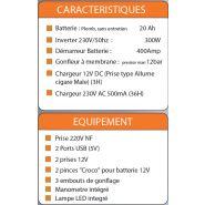 Avanty revo 300w - groupe électrogène portable - mecafer - 300w