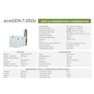 Ecogen-7.5sgc -  cogénération - cogengreen - puissance électrique 7.5kw (secours 6,0 kw)