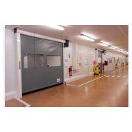 Porte rapide Salle Blanche / à enroulement / en plastique / utilisation intérieure / 3000 x 3000 mm / ignifuge