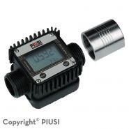 K24 - débitmètre électronique carburant - piusi spa - liquide : gasoil - l'écran affiche également le débit supporté, jusqu'à un maximum de 120 l/min