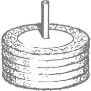 Roue en nylon abrasif -  à 5 disques