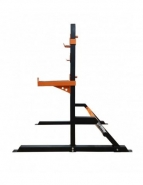 Half rack repose-barres pour entraînement à la barre libre en home-gym capacité 200 kg