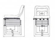 Siege tracteur suspension etroite pneumatique lgv84 mi 400