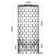 Cs-3000 - silo à ciment boulonné - constmach - capacité de 3000 tonnes