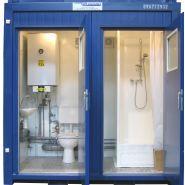 Bloc sanitaire gamme economique 1 wc 1 douche