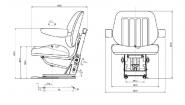 Siege tracteur suspension mecanique t 600