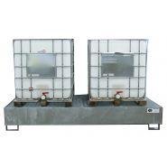 Bac de rétention en acier pour 8 fûts de 220 l ou 2 cuves de 1000 l
