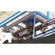 Convoyeur aérien  - société alm - trolleys 2 à 6 pouces