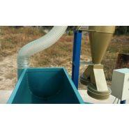Broyeur de graines pour préparation de granulés avec cyclone ath08