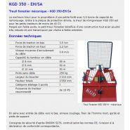 Kgd 350 eh/sa - treuil forestier - königswieser - poids sans câble 256 kg
