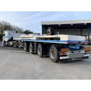 Max410 - remorque plateau pour poids lourd - max trailer distribution -  avec essieux directionnels