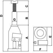Cp81120 - cric bouteille - g renault - capacité : 12 tonne(s)