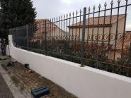 Clôture barreaux fer forgé - art metaux
