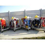 Skid hydrogommage aerogommage  unite mobile complète