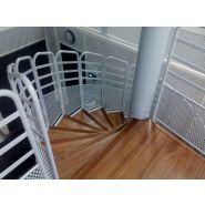 Escalier industriel hélicoïdal - bombrun - diamètre 1200 à 2020 mm - largeur de passage 500 à 900 mm