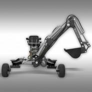 Mini pelle essence mb-300 godet 20 cm jansen - j1515000