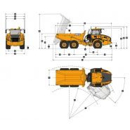B20e low ground pressure tombereaux articulés - bell - 18 000 kg