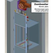 Dumbwaiter monte-plats - kleemann hellas mechanical constructions - charge de 24-300 kg