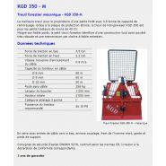 Kgd 350 m - treuil forestier - königswieser - poids sans câble 256 kg