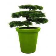 Pot de fleurs rond xxl delight 420 l vert anis
