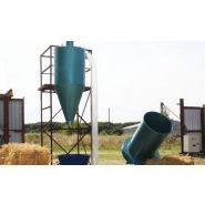 Broyeur de paille pour préparation de granulés avec cyclone ath09