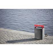 Btt-b307p - poubelle publique - mmcité 1 a.s. - version avec support de sac poubelle, cendrier, 120 l
